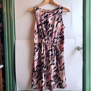 GAP Pink Purple Brown Animal Sleeveless Tank Dress